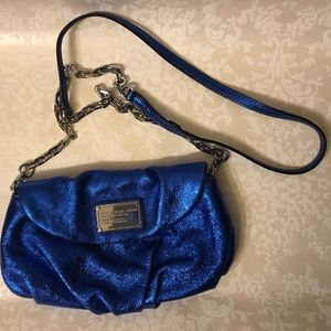 Marc by Marc Jacobs Blue Cow Leather Crossbody